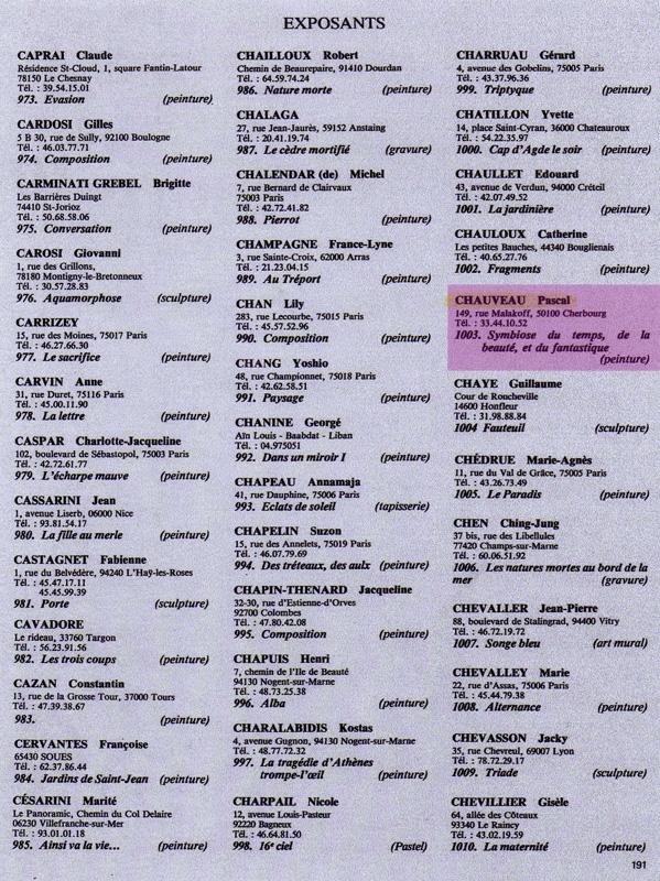 Pascal chauveau biographie de l 39 artiste peintre pascal - Salon du dessin et de la peinture a l eau ...